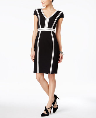 JAX Cap-Sleeve Seamed Sheath Dress $138 thestylecure.com