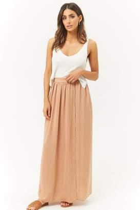 Forever 21 Satin Maxi Skirt
