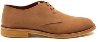Bottega Veneta Round-toe suede derby shoes