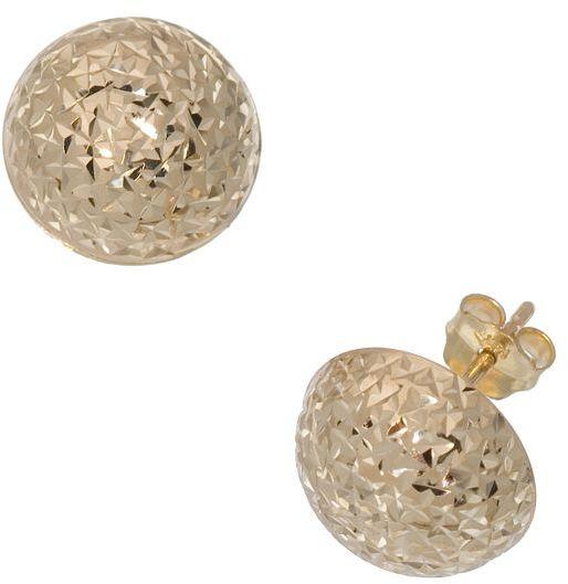 New York Gold Designs™ 14k Gold Diamond-Cut Stud Earrings