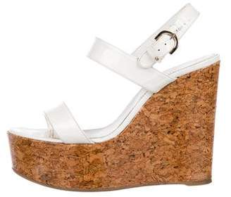 Sergio Rossi Patent Leather Wedges