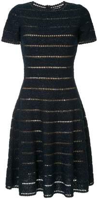 Oscar de la Renta cut-out detail knitted dress