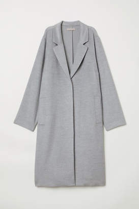 H&M H&M+ Felted Coat - Gray