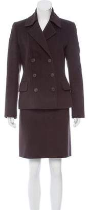 Michael Kors Wool & Angora-Blend Skirt Suit