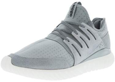 Adidas Men's Tubular Radial Light Grey / Core Black Vintage White Ankle-High Fabric Fashion Sneaker - 10M