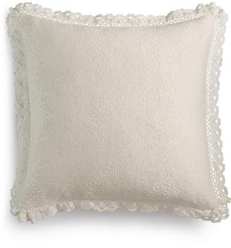 """Macy's Lacourte Harlow Handcrafted Matelassé 20"""" Square Decorative Pillow, Created for"""