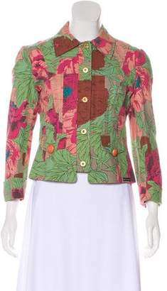 Dolce & Gabbana Printed Button-Up Jacket