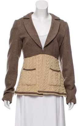 American Retro Wool Notch Lapel Blazer