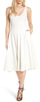 Women's Leith Stretch Knit Midi Dress $68 thestylecure.com