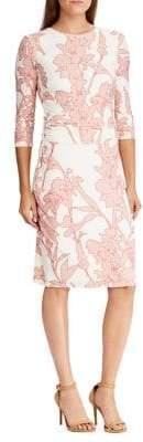 Lauren Ralph Lauren Floral Slim Jersey Dress
