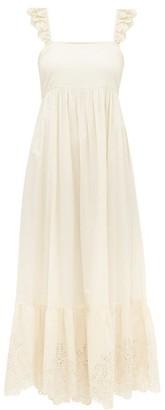 Apiece Apart Quince Broderie Anglaise Cotton Maxi Dress - Womens - Cream