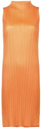 Pleats Please Issey Miyake pleated slit dress