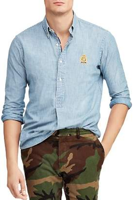 Polo Ralph Lauren Hampton Chambray Classic Fit Button-Down Pullover Shirt