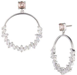 Carolee Blushing Bride Crystal Hoop Earrings