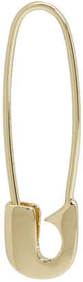 Lauren Klassen Gold Single Safety Pin Earring