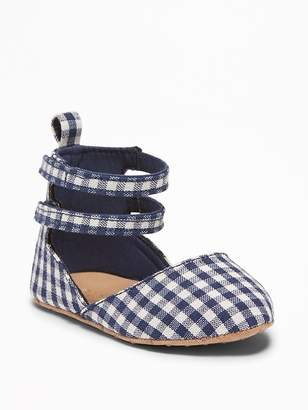 Old Navy Gingham Pointy-Toe Ballet Flats for Baby