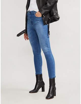 """J Brand Carolina 32"""" inseam skinny super high-rise jeans"""