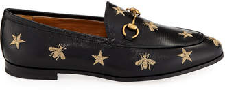 Gucci Jordaan Star & Bee Leather Loafer