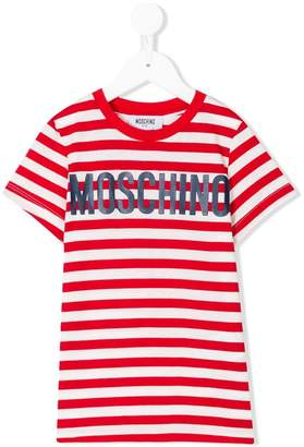 Moschino Kids striped T-shirt