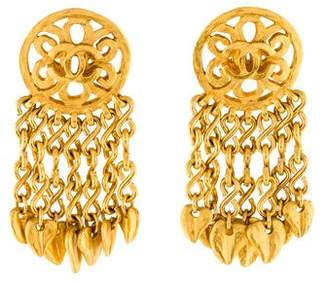 Chanel CC Fringe Earrings