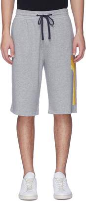 James Perse Graphic stripe outseam sweat shorts