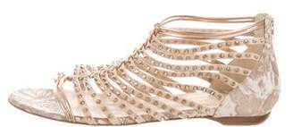 Christian Louboutin Studded Flat Sandals
