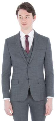 Ben Sherman Grey Structure Micro Check Slim Jacket