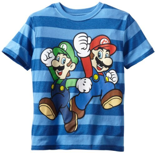 Nintendo Boys 8-20 Mario And Luigi Short Sleeve Tee