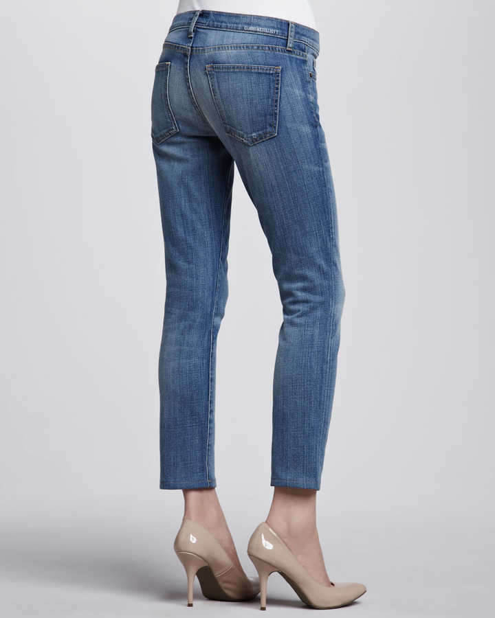Current/Elliott The Low-Rise Stiletto Jeans, Carriage