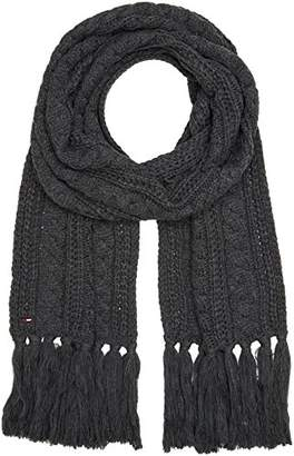 4dc0255ecd2 Mens Grey Cable Scarf - ShopStyle UK