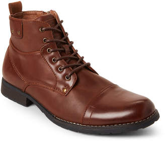 Bullboxer B52 By Cognac Lace-Up Faux Leather Boots