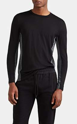 Isaora Men's Merino Wool Long-Sleeve T-Shirt - Black