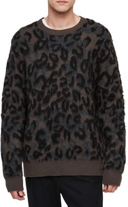 AllSaints Apex Slim Fit Crewneck Sweater