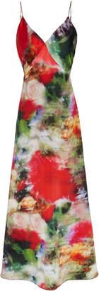 ADAM by Adam Lippes Printed V-Neck Silk Dress