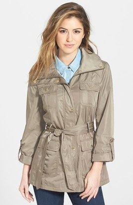 Women's Ellen Tracy Techno Short Trench Coat $180 thestylecure.com