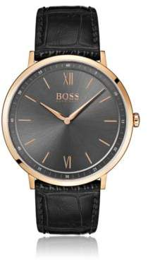 BOSS Hugo Rose-gold-plated watch gray sunray-brushed dial One Size Assorted-Pre-Pack
