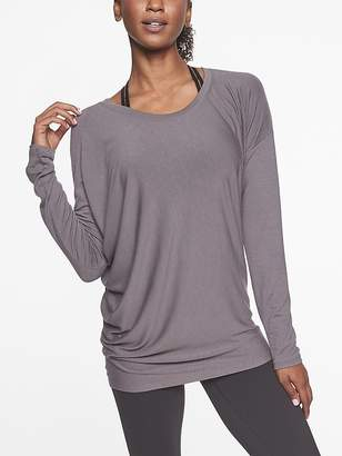 Athleta Threadlight Asym Relaxed Long Sleeve