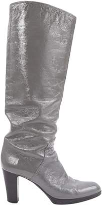 Sergio Rossi Grey Patent leather Boots
