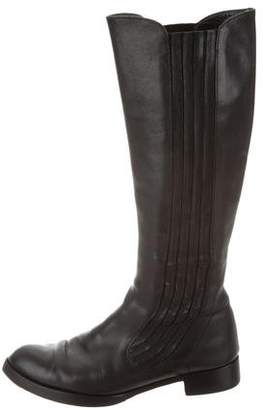 Alexander McQueen Leather Knee Boots
