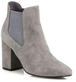 Cole Haan Whitlyn Suede Block-Heel Booties $220 thestylecure.com