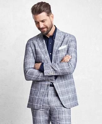 Brooks Brothers Golden Fleece Navy Glen Plaid Suit