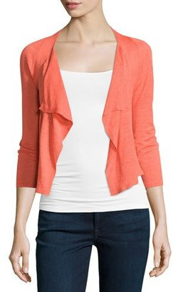 NIC+ZOE 4-Way Drifting Cardigan, Hot Coral $128 thestylecure.com
