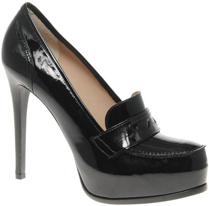 Pour La Victoire Larkin Patent Leather Heeled Loafer