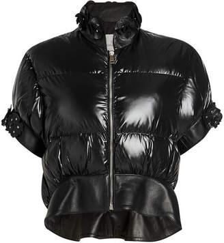 Noir Kei Ninomiya Moncler Genius 6 Moncler Onyx Embellished Down Jacket