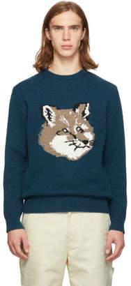 MAISON KITSUNÉ Blue Fox Head Sweater