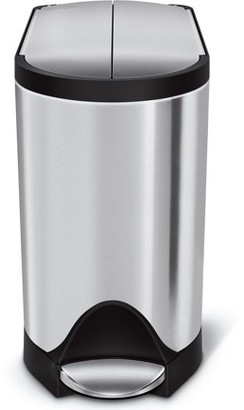 Simplehuman 10 Litre / 2.6 Gallon Butterfly Step Trash Can Fingerprint-Proof Brushed Stainless Steel