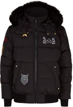 Moose Knuckles Patch Bomber Jacket