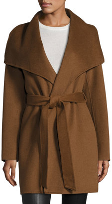 T Tahari Wool-Blend Belted Wrap Coat, Vicuna $195 thestylecure.com