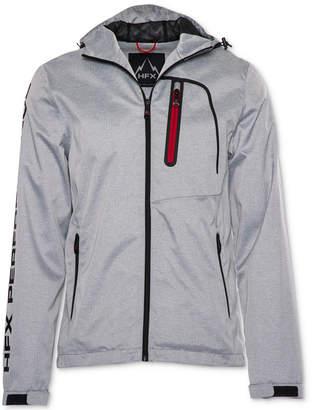 Halifax Men's Hfx Herringbone Full-Zip Hooded Waterproof Jacket