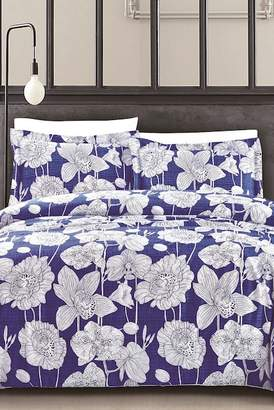 California Design Den by NMK Exotica Quilt Set - King - Deep Blue
